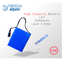 High Capacity Battery - 12V- 3000mAh